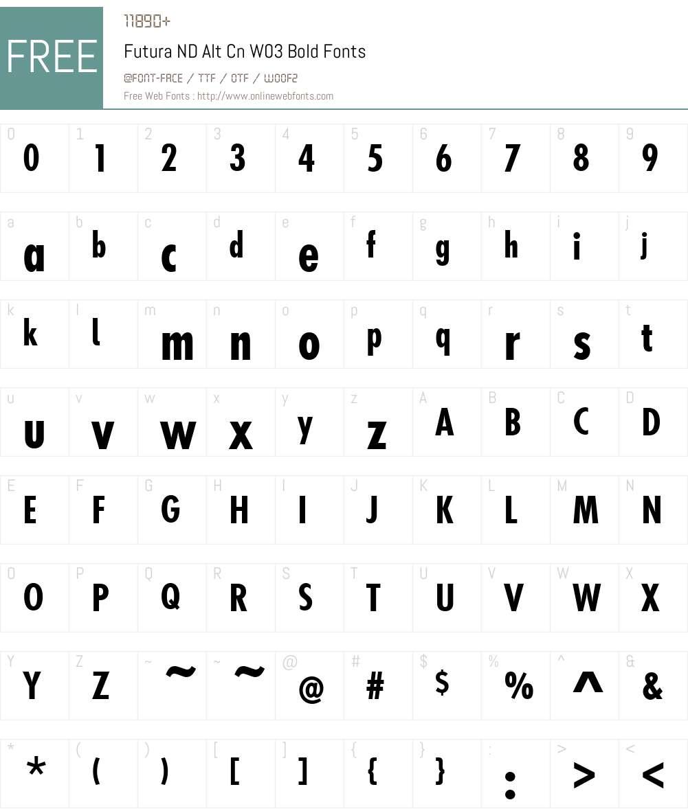 Futura ND Alt Cn W03 Bold 2 00 Fonts Free Download - OnlineWebFonts COM