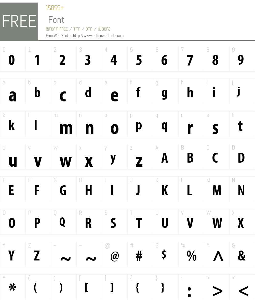 Myriad Pro Bold Condensed OTF 1 006