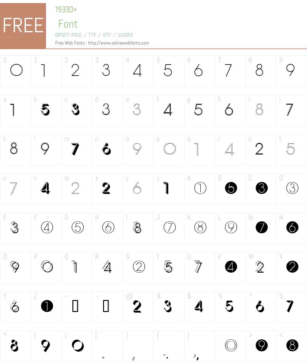 Display Digits Eight W95 Rg 1 00 Fonts Free Download