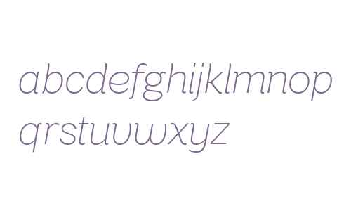 Bright Grotesk UltraLight Italic