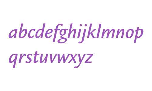 Legacy Sans ITC Medium Italic OS