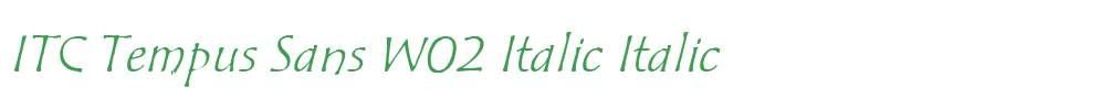ITC Tempus Sans W02 Italic