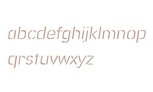 Raker Display Stencil Light Italic