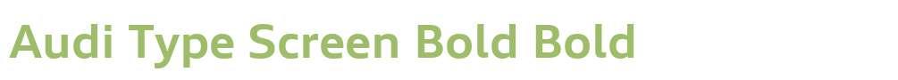 Audi Type Screen Bold