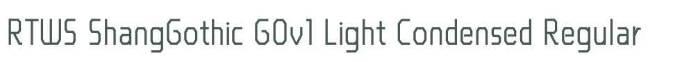 RTWS ShangGothic G0v1 Light Condensed