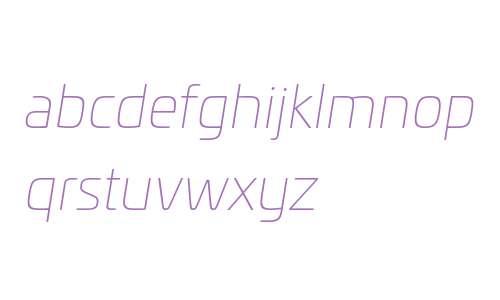 Univia W03 Thin Italic