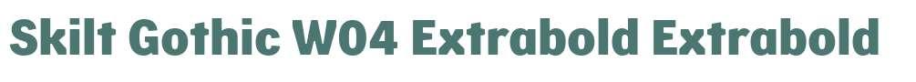 Skilt Gothic W04 Extrabold