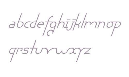 Chaman W00 Italic