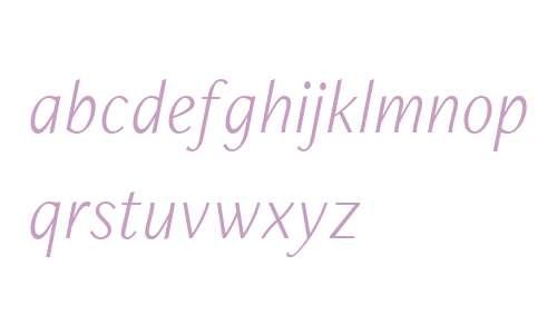 FreightNeo W03 Light Italic
