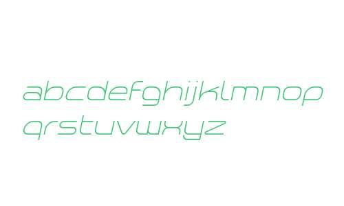 Planetium-X Light Italic Demo