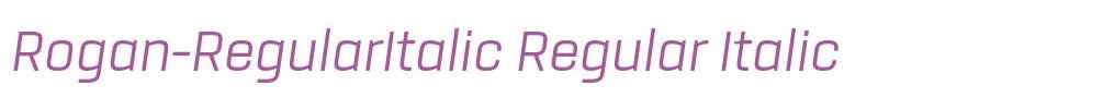 Rogan-RegularItalic
