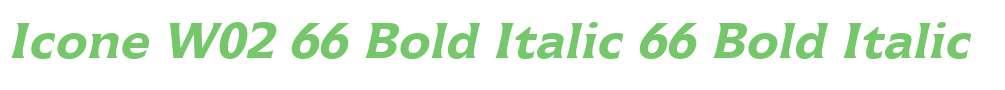 Icone W02 66 Bold Italic