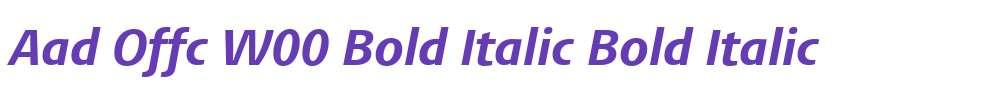 Aad Offc W00 Bold Italic