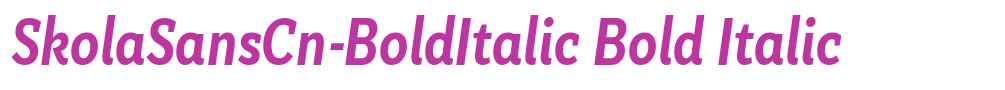 SkolaSansCn-BoldItalic