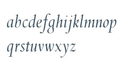 Spectrum MT W04 Italic