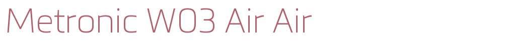 Metronic W03 Air