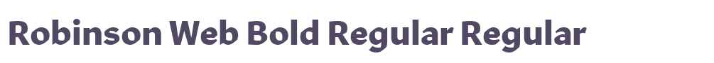Robinson Web Bold Regular