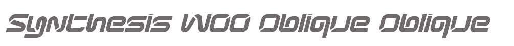 Synthesis W00 Oblique