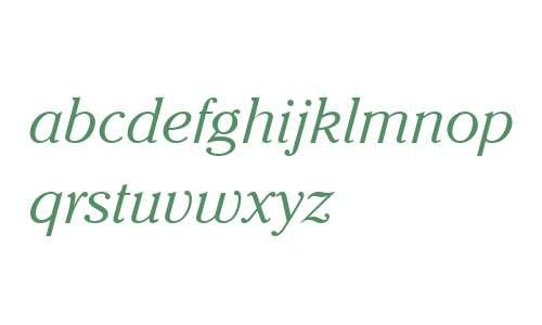 Cheltenham ITC W04 Light Italic
