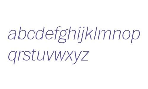 ITC Franklin W04 Thin Italic