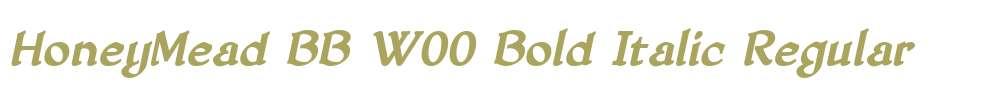 HoneyMead BB W00 Bold Italic