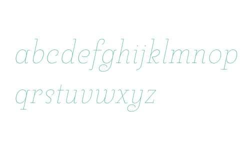 Pauline Didone W01 Thin Italic