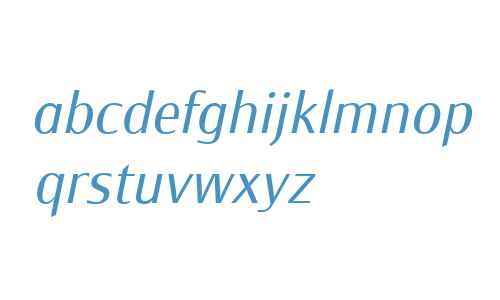 Monem W01 Light Italic