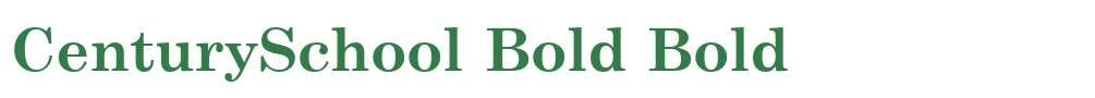 CenturySchool Bold