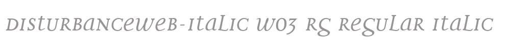 DisturbanceWeb-Italic W03 Rg