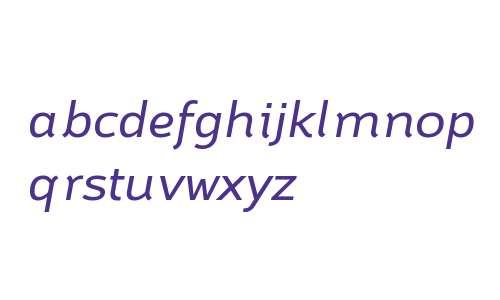 Brisko Sans W01 Regular Italic