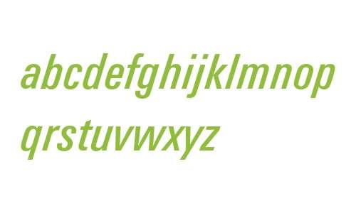 Univers Condensed 58 Italic