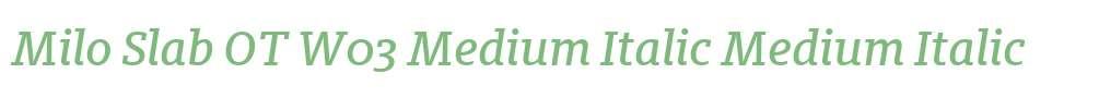 Milo Slab OT W03 Medium Italic