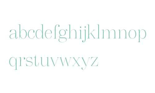 Vogue Highline Serif Thin