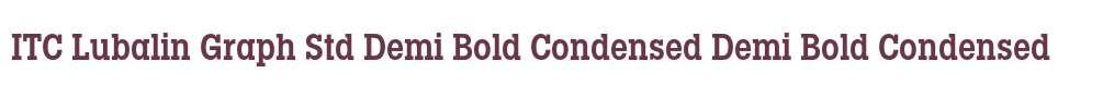 ITC Lubalin Graph Std Demi Bold Condensed