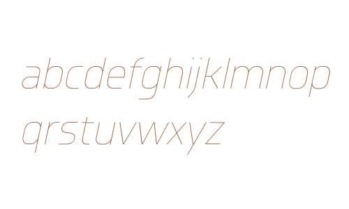 Knul W00 UltraLight Italic