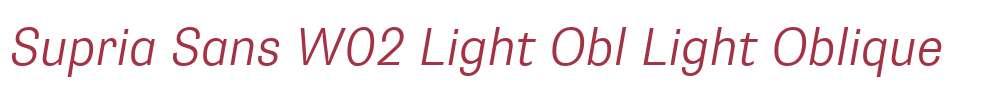 Supria Sans W02 Light Obl