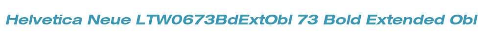 Helvetica Neue LTW0673BdExtObl