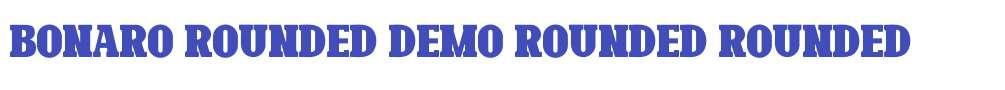 Bonaro Rounded Demo Rounded