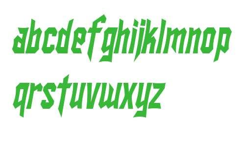 SF Ironsides Condensed Italic V2 V1