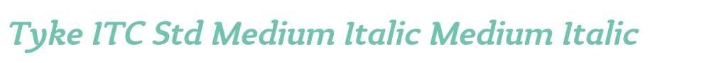 Tyke ITC Std Medium Italic