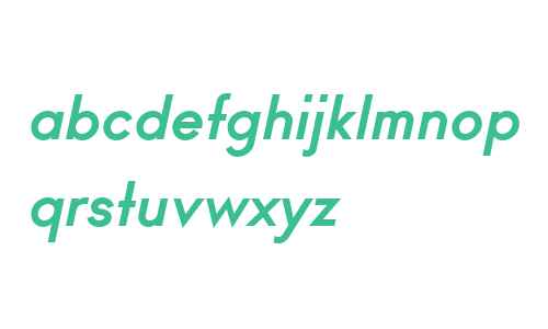 Ano Bold W00 Upper Lower Italic
