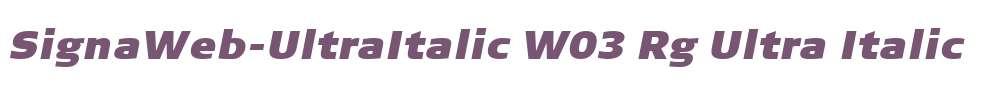 SignaWeb-UltraItalic W03 Rg