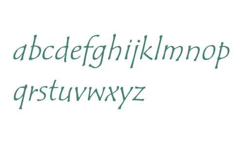 Tempus Sans ITC Italic