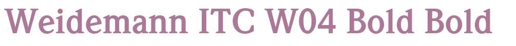 Weidemann ITC W04 Bold