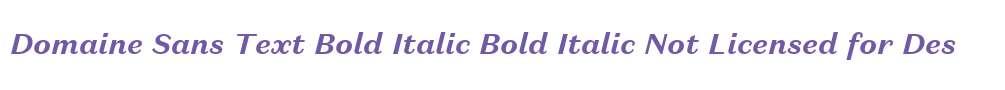 Domaine Sans Text Bold Italic Bold Italic