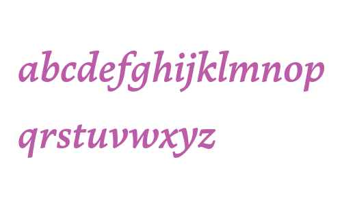 Marco PE W03 SemiBold Italic