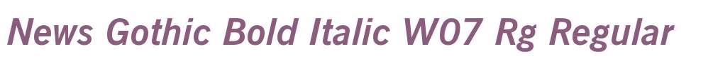 News Gothic Bold Italic W07 Rg