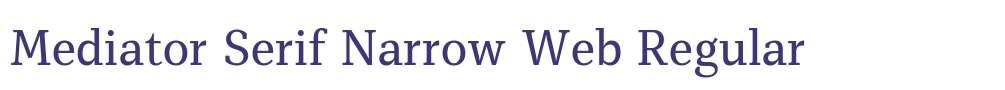 Mediator Serif Narrow Web