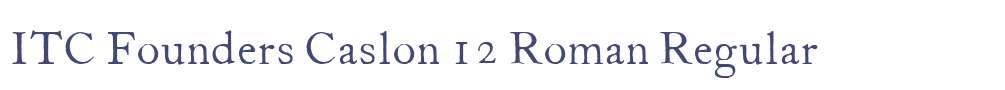 ITC Founders Caslon 12 Roman