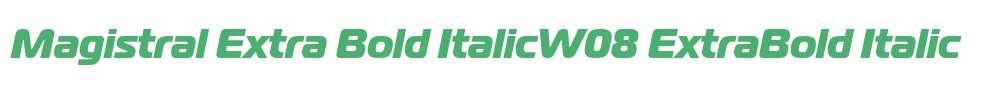 Magistral Extra Bold ItalicW08
